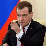Russia's Prime Minister Dmitry Medvedev speaks at meeting in the Crimean capital Simferopol, on March 31, 2014. Medvedev visited today Crimea, the first Russian leader to travel to the Black Sea region after Moscow seized it from Ukraine. AFP PHOTO / RIA-NOVOSTI /POOL / ALEXANDER ASTAFYEVALEXANDER ASTAFYEV/AFP/Getty Images